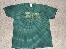 Maze Audio T-Shirt, Tie-Dye Green, Hug Your Stereo, New! Size: L, Size Large