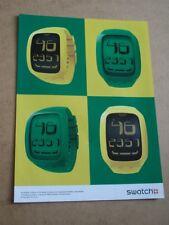 SWATCH Yellow Touch Flake - 2012 - ORIGINAL WATCH magazine advert - 28 x 21 cm