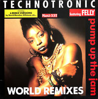 """Technotronic Featuring Felly 12"""" Pump Up The Jam (World Remixes) - France"""