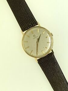 OMEGA 18K YELLOW GOLD  34 MM VINTAG MAN'S WRIST WATCH