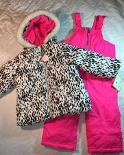 NWT Girls Carter Snowsuit 2-piece Winter Jacket Snow Bibs...