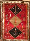 Hand-knotted Rug (Carpet) 4'10X6'7, Shiraz mint condition