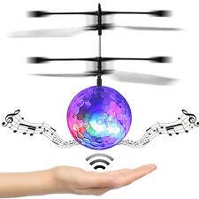 Flying Ball RC Drone Helicopter Ball Built-in Disco Music With Shinning LED UK