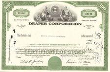 Draper Corporation > Maine textile stock certificate