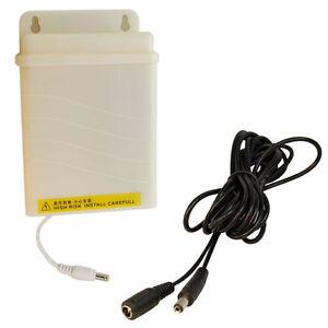 HQRP AC Adapter & Cable for Zmodo 700TVL ZH-IXA15-WAC ZP-IBI13-W ZP-IBH13-P