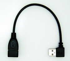 USB A FEMALE TO A MALE left angle USB extension lead cable 20cm ( right side )