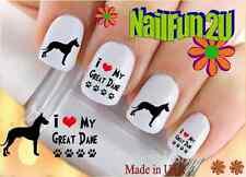 "RTG Set#134 DOG BREED ""Great Dane Love"" WaterSlide Decals Nail Art Transfers"