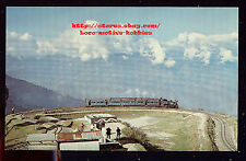 Postcard INDIA  INDIAN RAILWAY  Himalayan Train  GHOOM LOOP   2' Gauge Railroad