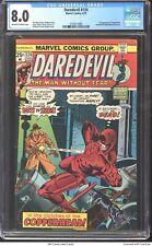 Daredevil #124 1975 CGC 8.0 - Black Widow break up, 1st appearance of Copperhead