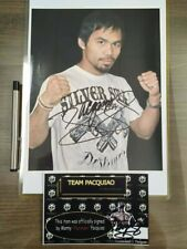 MANNY PACQUIAO HAND SIGNED PHOTO 2 8 x 10 INCHES WITH TEAM PACQUIAO COA  - RARE