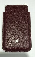 MONTBLANC porta SmartPhone Meisterstuck bordeaux Ref. 109185 NUOVO LEATHER COVER
