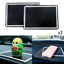 2x Black Rubber Anti-Slip Car Dashboard Sticky Non-Slip Mat GPS Phone Holder
