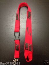 Nike Lanyard Detachable Keychain iPod Camera Strap Badge ID Running Cell Rblack
