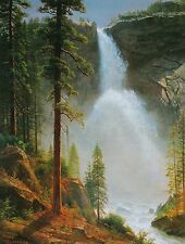 "Albert Bierstadt, ""Nevada Fall"", digital, 24""h x 18""w image"