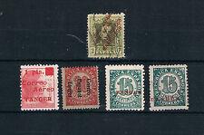 Tanger. Lote de 5 sellos de Tanger con variedades