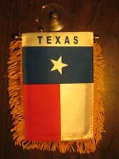 """TEXAS STATE FLAG MINI BANNER 4""""x6"""" CAR WINDOW MIRROR TX"""