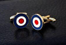 RAF ROUNDEL - MOD - TARGET - CUFFLINKS - GOLD                            (M37C)