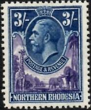 Northern Rhodesia 1929 KGV  3/- Violet & Blue  SG.13 Mint (Hinged)   Cat:£45