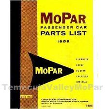 Illustrated MoPar Parts Manual for 1959 Ply - Dodge  - Desoto - Chrysler - Imper