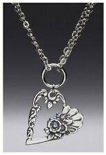 Artisan Silver Spoon Jewelry - LOUISE Necklace - #SS-LOUISE-HND