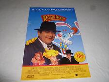 VINTAGE WHO FRAMED ROGER RABBIT MOVIE POSTER ORIGINAL 1989 VHS VIDEO TOUCHSTONE