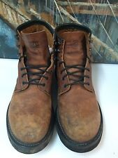 Workn' Sports Leather Brown Work Boots   13EE