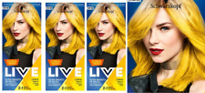 3x Schwarzkopf Live Semi Permanent Color  Citrus Neons 107 LEMON TWIST