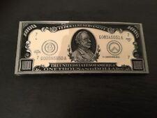 $1000 DOLLAR NOTE Logo New BELT BUCKLE Metal Novelty US Dollar Bill Currency