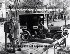 Antique/Old 1909-32 USPS Mailman/Postman Letter Carrier Mailbox Mail Truck Photo