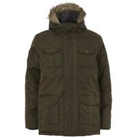 New Mens Coat Showerproof   Fur Canadian Hooded Parka Jacket Size Small  XL Hood