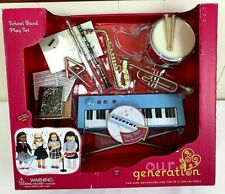 """Our Generation 18"""" Doll School Band Set Keyboard Flute Drum Instruments Trumpet"""