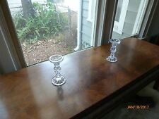 Pair Glass Candle Sticks