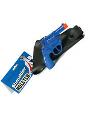 Plastic Toy Gun & Shoulder Holster Starksy Hutch Police Gangster Fancy Dress New