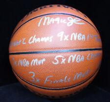 Magic Johnson Signed STAT Spalding Basketball STEINER W/ CERT 22/32