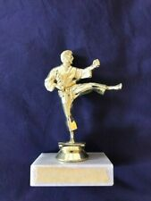 Martial Arts Kick Boxing Karate Judo Gold Figure Trophy Award