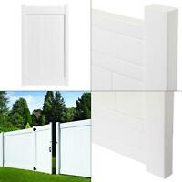 3.5 ft. w x 6 ft. h fairfax white vinyl privacy fence gate   protected durable