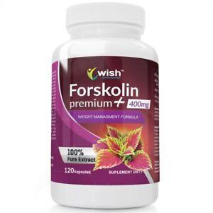 Forskolin Premium Plus 400mg - 120 Kapseln Entgiftung,  Abnehmen Fettreduktion