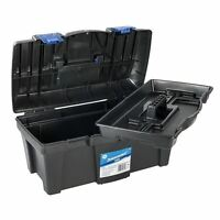 "NEW SILVERLINE 19"" TOOL BOX WITH HANDLE TRAY DIY STORAGE PLASTIC 19inch TOOLBOX"