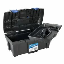 """NEW SILVERLINE 19"""" TOOL BOX WITH HANDLE TRAY DIY STORAGE PLASTIC 19inch TOOLBOX"""