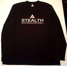 Stealth Rod Holders Fishing Black Long Sleeve COOLDRI Shirt Men's XL