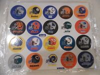 1994  NFL FOOTBALL  40 cards Pog lot  uncut - 2 sheets TEAM LOGO