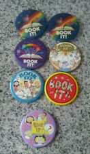 Vintage 1990s Book It Pins Buttons From Pizza Hut Set Of 7