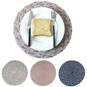 1PC Round Beauty Place Mat Kitchen Plate Pad Heat Resistant Placemats Protect