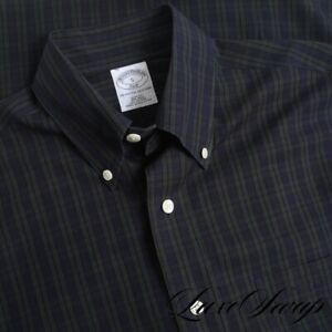 NWT #1 MENS Brooks Brothers Slim Fit Blackwatch Tartan Plaid Button Down Shirt S