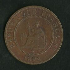 Colonies Françaises : Indochine : 1 Cent 1892 A