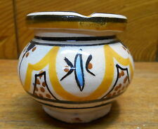 "South American Art Pottery 2 Piece Ashtray - 2 1/2"" Tall"