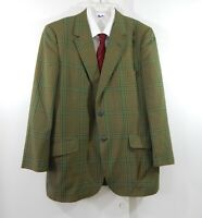vintage 60s GOLDEN EXECUTIVE jacket blazer sport coat plaid retro 2 btn 42R