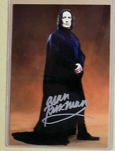 Harry Potter-Alan Rickman-Severus Snape-Movie-Signature-Signed-Autograph-Card