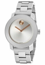 New Movado Bold Stainless Steel 38mm Women's Watch 3600084