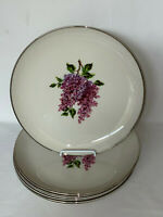 "7 Fine Arts China LILAC 10 3/4"" DINNER PLATES"